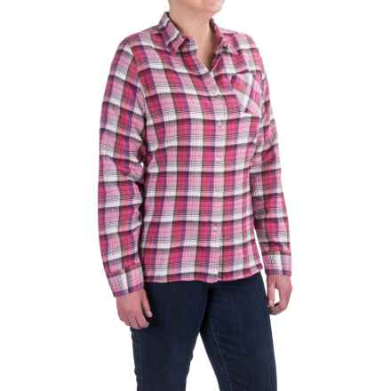Tall Pines by Woolrich Little Sandy Flannel Shirt - Long Sleeves (For Women) in Pink - Closeouts