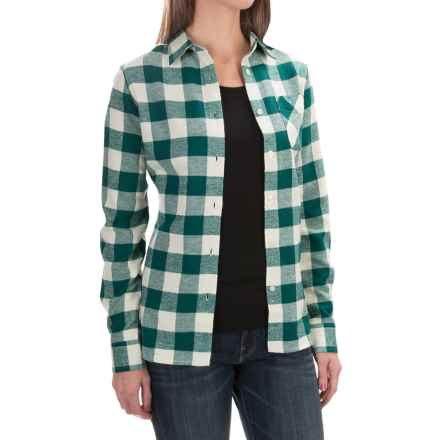 Tall Pines by Woolrich Little Sandy Flannel Shirt - Long Sleeves (For Women) in Seagrove - Closeouts