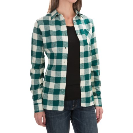 Tall Pines by Woolrich Little Sandy Flannel Shirt - Long Sleeves (For Women) in Seagrove