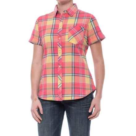 Tall Pines Woolrich Tall Pine Pucker Shirt - Short Sleeve (For Women) in Butternut - Closeouts