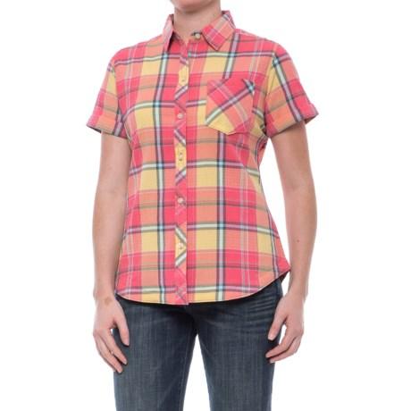Tall Pines Woolrich Tall Pine Pucker Shirt - Short Sleeve (For Women) in Butternut