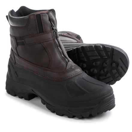 Tamarack Buffalo Snow Boots - Waterproof, Insulated, Leather  (For Men) in Brown - Closeouts