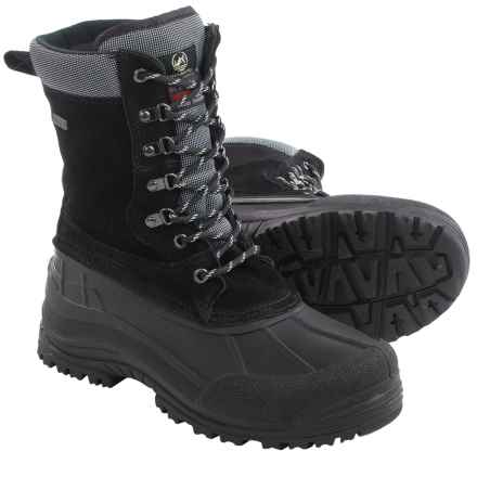 Tamarack Tundra Suede Pac Boots - Waterproof, Insulated (For Men) in Black - Closeouts