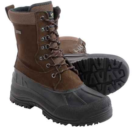 Tamarack Tundra Suede Pac Boots - Waterproof, Insulated (For Men) in Brown - Closeouts