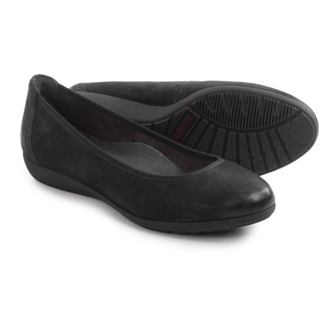 Tamaris Leather Ballet Flats (For Women)