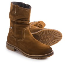 Tamaris Suede Slouch Boots - Waterproof (For Women) in Muscat - Closeouts