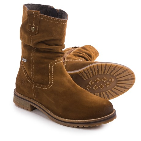 Tamaris Suede Slouch Boots Waterproof (For Women)