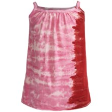 Tank Sun Dress - Sleeveless (For Girls) in Red/Pink Tie Dye - 2nds