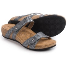 Taos Footwear Audition Leather Sandals (For Women) in Granite Snake - Closeouts