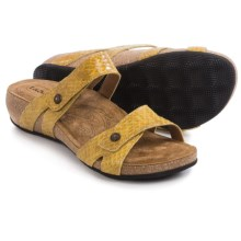 Taos Footwear Audition Leather Sandals (For Women) in Yellow Snake - Closeouts
