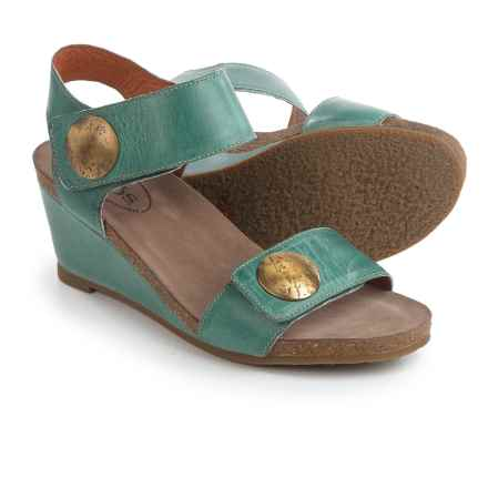 Taos Footwear Carousel 2 Wedge Sandals - Leather (For Women) in Teal - Closeouts