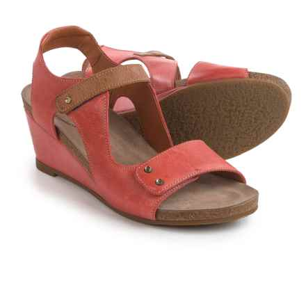 Taos Footwear Chrissy Wedge Sandals - Leather (For Women) in Red Camel - Closeouts
