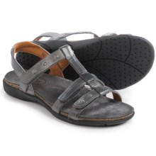 Taos Footwear Enchanted Leather Sandals (For Women) in Graphite - Closeouts