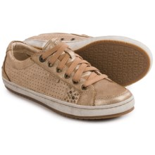 Taos Footwear Freedom Sneakers - Leather (For Women) in Gold - Closeouts