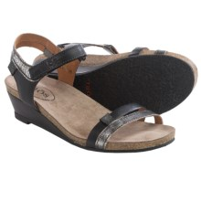 Taos Footwear Gala Leather Sandals (For Women) in Black Multi - Closeouts