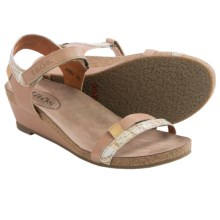 Taos Footwear Gala Leather Sandals (For Women) in Taupe Multi - Closeouts