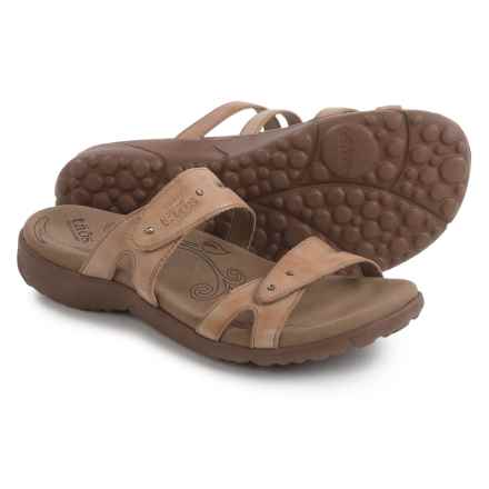 Taos Footwear Journey Sandals - Leather (For Women) in Stone - Closeouts