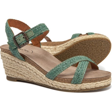 e86e55709 Taos Footwear Made in Portugal Hey Jute Wedge Sandals (For Women) in Sage