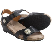 Taos Footwear Momentum Sandals - Leather (For Women) in Black - Closeouts