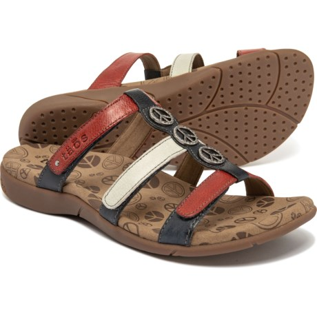 39a48cac1cc Taos Footwear Peace Prize Slide Sandals - Leather (For Women) in Patriot  Multi