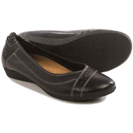 Taos Footwear Sleek Flats - Leather (For Women) in Black - Closeouts
