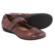 Taos Footwear Strapeze Mary Jane Shoes - Leather (For Women) in Berry Metallic - Closeouts