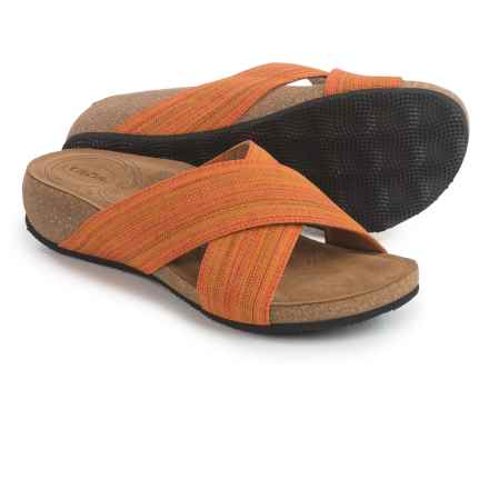 Taos Footwear Sunshine Cross-Strap Sandals (For Women) in Orange - Closeouts