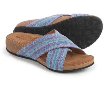 Taos Footwear Sunshine Cross-Strap Sandals (For Women) in Purple Multi - Closeouts