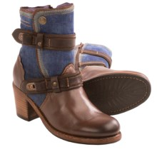 Taos Footwear Tombat Boots - Leather-Denim (For Women) in Brown/Denim - Closeouts