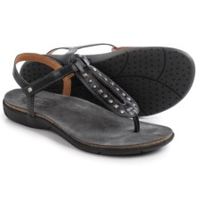 Taos Footwear Trance Leather Sandals (For Women) in Black - Closeouts