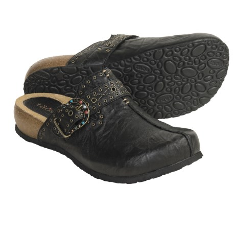 Taos Footwear Uptown Clogs - Leather (For Women) in Black