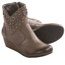 Taos Footwear Verge Ankle Boots - Leather, Wedge Heel (For Women) in Grey - Closeouts