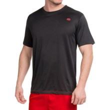 Tapout Space-Dye Tech Active Crew Shirt - Short Sleeve (For Men) in Black - Closeouts