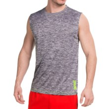 Tapout Space-Dye Tech Active Muscle Shirt - Sleeveless (For Men) in Asphalt Heather - Closeouts