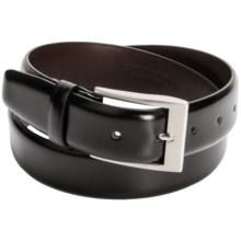 Tardini Calfskin Leather Belt (For Men) in Black - Closeouts
