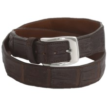 Tardini Satin-Finish Caiman Crocodile Belt (For Men) in Chocolate - Closeouts