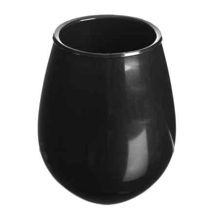 TarHong Stemless Acrylic Wine Glass - 16.3 oz. in Black - Overstock