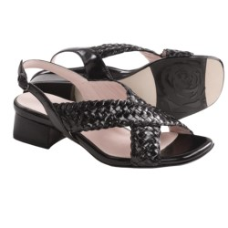 Taryn Rose Orla Woven Sandals - Leather (For Women) in Vachetta Vintage Calf