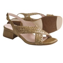Taryn Rose Orla Woven Sandals - Leather (For Women) in Vachetta Vintage Calf - Closeouts