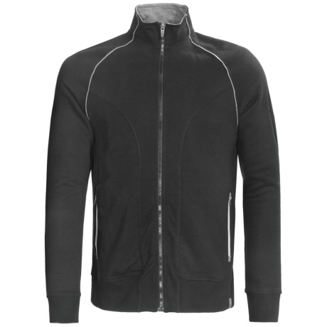 tasc 101 Fleece Jacket - UPF 50+, Full Zip (For Men) in Black