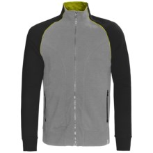 Tasc 101 Fleece Jacket - UPF 50+, Full Zip (For Men) in Heather Grey/Black - Closeouts