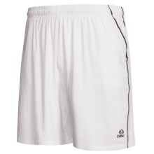 Tasc Ace Shorts - UPF 50+, Organic Cotton, Built-in Brief (For Men) in White/Gunmetal - Closeouts