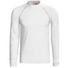 Tasc Blaze Shirt - UPF 50+, Organic Cotton, Long Sleeve (For Men) in White/Orange - Closeouts