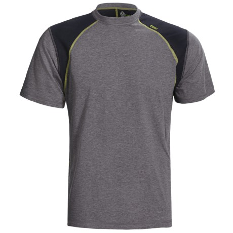 tasc Blaze T-Shirt - UPF 50+, Short Sleeve (For Men) in Heather Gray/Kryptonite