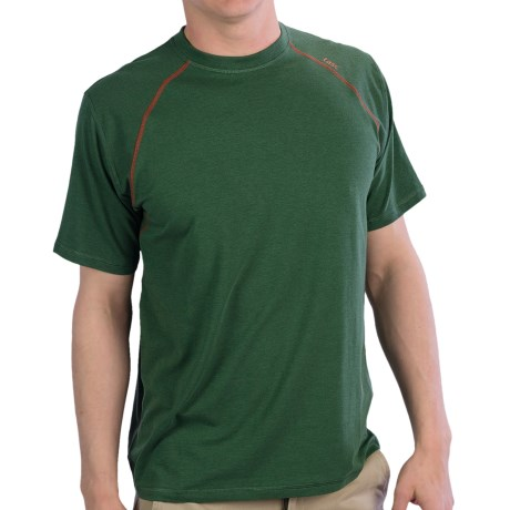 tasc Blaze T-Shirt - UPF 50+, Short Sleeve (For Men) in Thriv Green/Lava