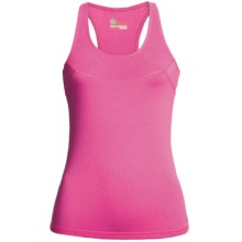 Tasc Cape Elizabeth Racerback Tank Top - UPF 50+, Organic Cotton, Built-In Bra (For Women) in Dragonfruit - Closeouts
