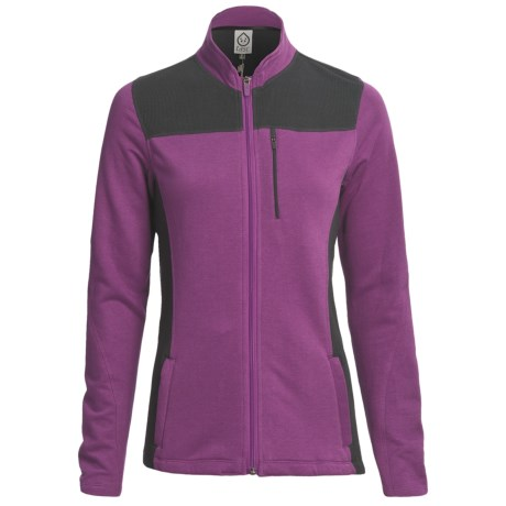 tasc Chamonix Fleece Jacket - UPF 50+, Organic Cotton (For Women) in Sunset Purple/Gunmetal