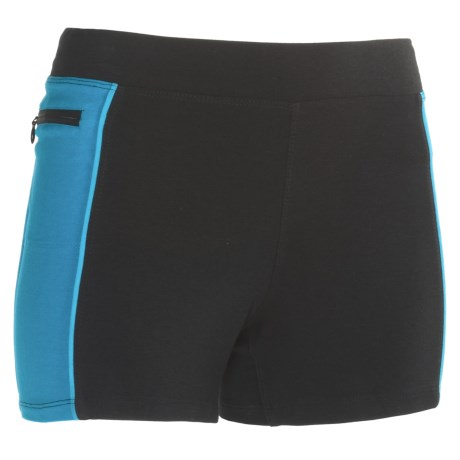 tasc Continuum Compression Shorts - Organic Cotton (For Women) in Gunmetal/Dragonfruit