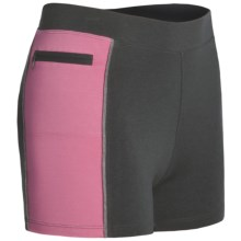 Tasc Continuum Compression Shorts - Organic Cotton (For Women) in Gunmetal/Candy - Closeouts