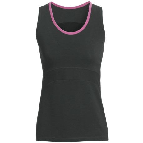 tasc Continuum Tank Top - UPF 50+, Orgnanic Cotton Blend (For Women) in Black/Dragonfruit